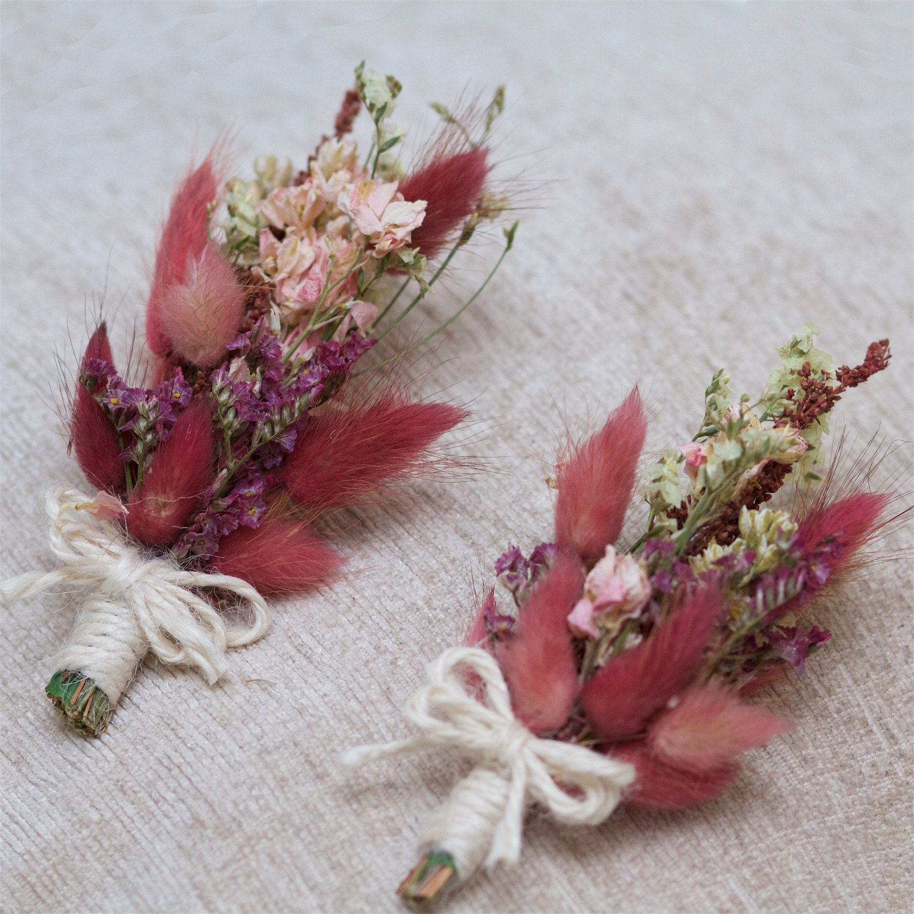 """Featured image for """"Rustic Pink Dried Buttonholes (Set of 2)"""""""