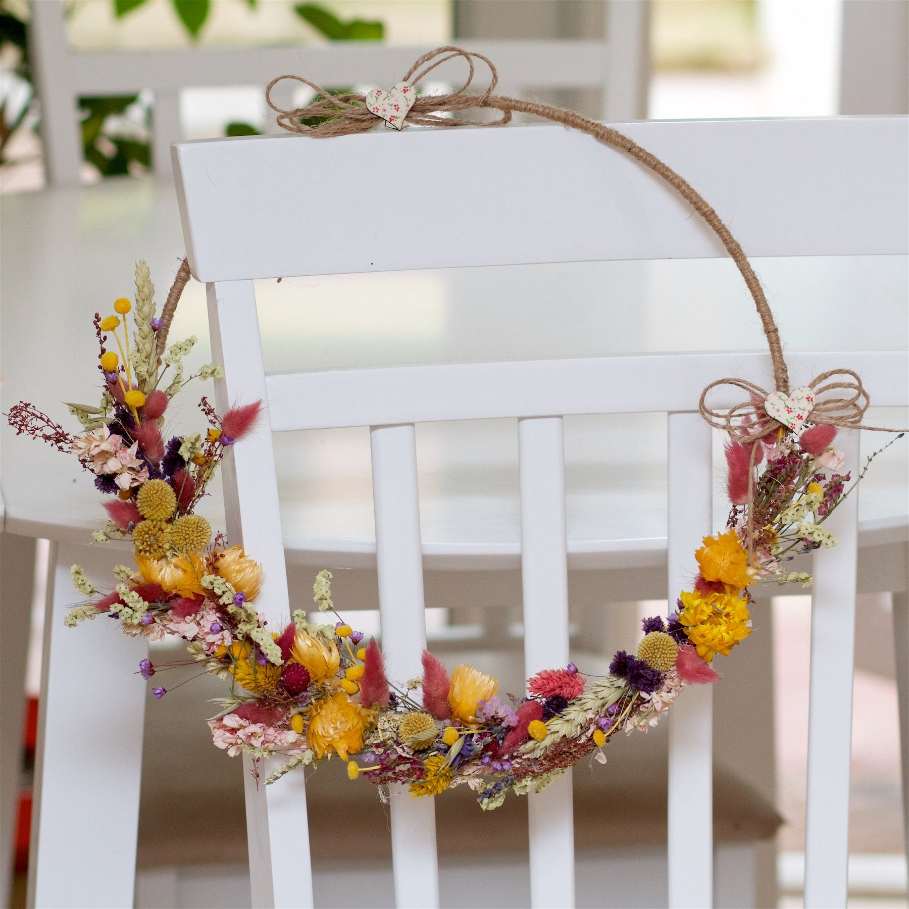 """Featured image for """"12"""" Dried Flower Hoop"""""""