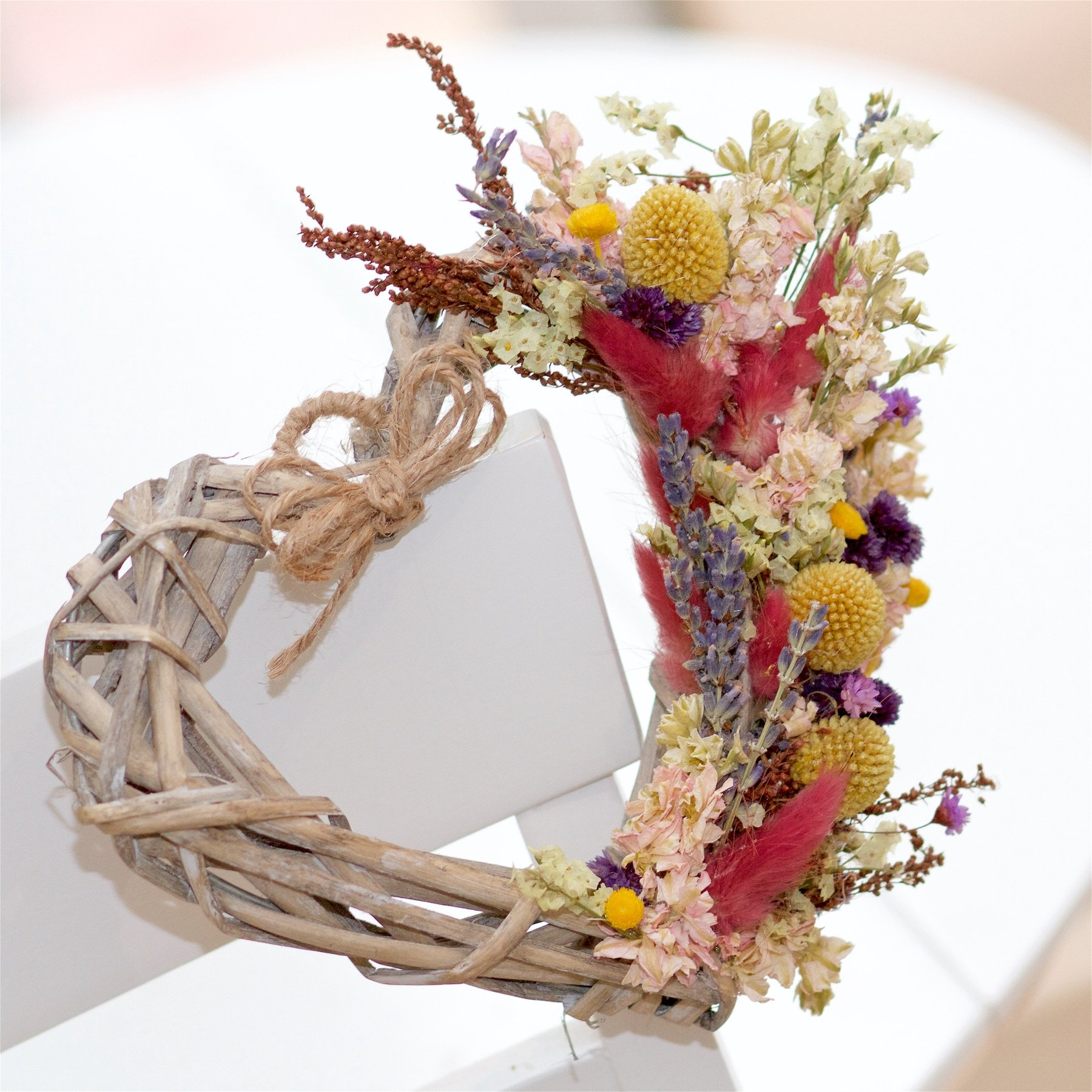 """Featured image for """"7"""" Dried Flower Wicker Heart"""""""